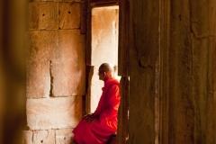 Monje en Angkor Wat